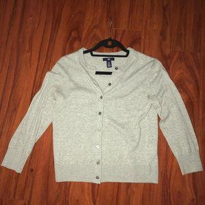 Gap women's cardigan 3/4 sleeve in gray